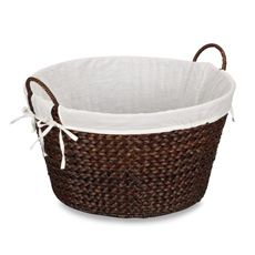 Household Essentials™ Round Banana Leaf Laundry Basket - Brown - Bed Bath & Beyond