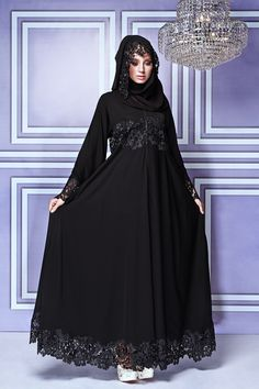 Frau mit Abaya & Hijab in Malaysia Islamic Fashion, Muslim Fashion, Modest Fashion, Korean Fashion, Fashion Dresses, Muslim Dress, Hijab Dress, Dress Up, Abaya Designs Latest