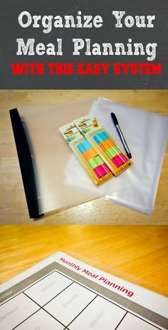 Organize meal planning with this easy and reusable system