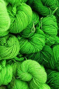 Lime Green Yarn ....