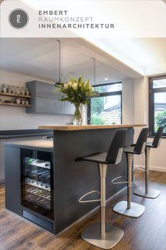 Kitchen Room Design, Kitchen Interior, Modern Kitchen Tables, Kitchen Tops, Kitchen Island, Scandinavian Kitchen, House Inside, Modern Architecture House, Kitchen Living