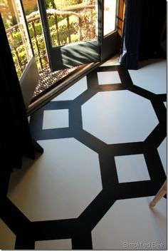 LOVE the floor!    via Simplified Bee