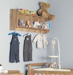 Amelie Oak Wall Shelf with Hanging Pegs #home #furniture #oak #wood #interior #decor #design #bedroom #shelf #wall #storage #clothing #coathanger