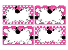 INSTANT+DOWNLOAD+Blank+Minnie+Mouse+Food+by+ThePrintableOccasion,+$3.00