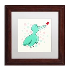 'Dreamy Love Bird' by Carla Martell Matted Framed Graphic Art