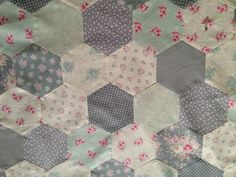 Tilda The CornerShop Hexagon quilt i am making at the moment.