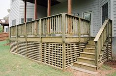 Would like to use this square lattice for skirting the bottom of the deck.