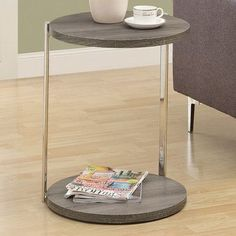 Monarch Specialties Inc. Kenmore End Table Finish: Dark Taupe