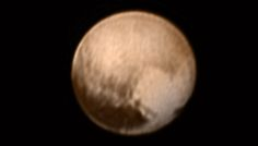 It looks like Pluto has a heart!   NASA's New Horizons is beginning the flyby of Pluto  http://go.nasa.gov/1eGFWho     7-8-15_pluto_color_new_nasa-jhuapl-swri.jpg