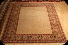 ON SALE Fine Quality handmade hand knotted 8x10 ft. Beige background knotan
