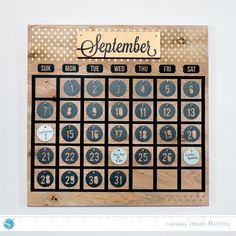 Large Wooden Perpetual Calendar