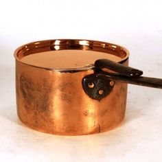 Old French Country Heavy Gauge Copper Egg Poacher Solid