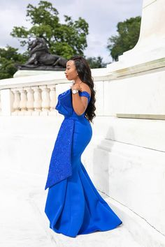 Image may contain: 1 person, standing and outdoor African Lace Styles, African Lace Dresses, Latest African Fashion Dresses, Ankara, Blue Mermaid Prom Dress, Dinner Gowns, Lace Dress Styles, African Traditional Dresses, Women's Evening Dresses