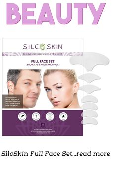 SilcSkin Full Face Set pads are designed to prevent wrinkles, bags and crepiness on the Brow, under eyes ,crow's feet and nasal labial area caused by fatigue, aging and sun damage. #makeupsets