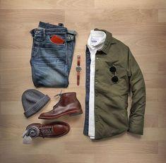 Boots  Alden  PAC  Indy Boot Shirt Jacket  Olive Nylon Oxford  Cap   Cashmere Denim  Kojima Vintage Wash Watch  Khaki Field Auto Wallet  Socks   Sunglasses  ... b1d0c72749a