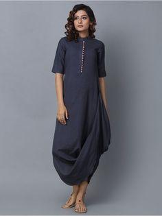 for this Tailer fit designer wear Indian Designer Outfits, Designer Dresses, Linen Dresses, Cotton Dresses, Indian Gowns Dresses, Draped Dress, Kurta Designs, Indian Fashion, Fashion Fall