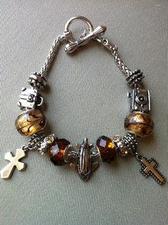 Travel Themed Charm Bracelet. $30.50, via Etsy.