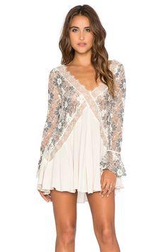 Tularosa Skylar Lace Dress in Black & Cream | REVOLVE