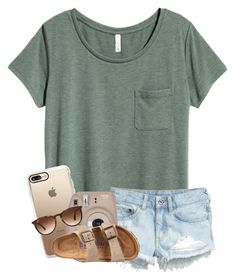 """QOTD : What do you like to do in your free time?"" by meinersk45195 ❤ liked on Polyvore featuring H&M, Casetify, Fujifilm, Ray-Ban and Birkenstock"