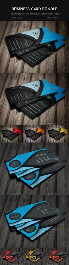 Creative Business Card Bundle Template #design Download: http://graphicriver.net/item/creative-business-card-bundle/12492307?ref=ksioks
