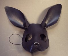 Tom Banwell Designs : Rabbit leather mask in black