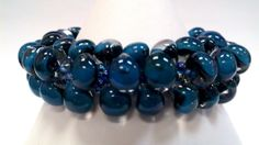 Teal Green Kumihimo Bracelet by sparkleezcrystals on Etsy, $50.00
