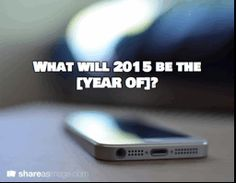 """2014 may have been the year of wearables and """"smart"""" tech, but what does 2015 have in store?"""