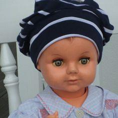 Bonnet béret chapeau bébé naissance jersey coton mauve