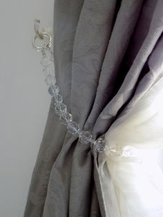 Swarovski crystals Curtain Tie Back by MilanChicChandeliers