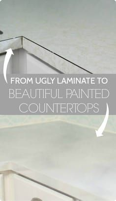 Kitchen Countertops Remodeling Painted countertops, painted marble counters with step by step tutorial - Painted countertops. Step-by-step tutorial for painting your kitchen countertops to look like marble. An inexpensive countertop solution. Painting Kitchen Counters, Painting Laminate Countertops, Outdoor Kitchen Countertops, Kitchen Countertop Materials, Diy Countertops, Marble Counters, Countertop Paint, Kitchen Cabinets, Replace Kitchen Countertops