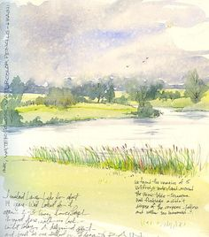 Journal sketch, Lawson Lake | Flickr - Photo Sharing!