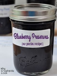 blueberry preserves no pectin recipe