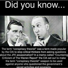 A lot of people don't believe the govt. would ever lie to them. News flash....THEY DO! They do it all the time! !!! Wake up!
