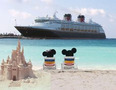 Mickey and Minnie at the Beach