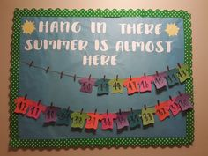 Countdown till summer bulletin board with removable numbered t-shirts Bulletin Board Tree, Bulletin Board Design, Classroom Bulletin Boards, Classroom Door, Classroom Countdown, School Countdown, Kindergarten Bulletin Boards, Summer Bulletin Boards, Back To School Funny