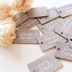 I love this for place cards and/or escort cards