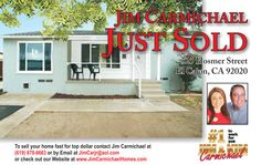 Call us 619-670-6663 Carmichael Homes for ALL of your Real Estate needs.