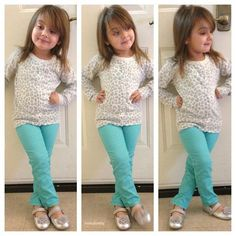 Cute outfit! Love the color of the pants with the grey leopard print shirt!
