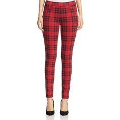 Sanctuary Plaid Leggings ($46) ❤ liked on Polyvore featuring pants, leggings, janis plaid, red pants, red trousers, red plaid pants, red leggings and sanctuary pants