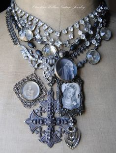 """Christine Wallace... """"Honoring Life Through Jewelry"""": Portrait Pieces..."""