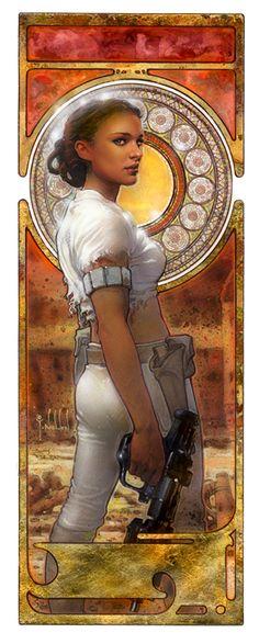 Star Wars: Padme Amidala Artwork by TereseNielsen (original designer of this art for Lucas films)