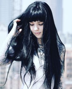 Revamp Your Do With Our 27 Ideas of Long Layered Hair with Bangs Get inspiration from our long hairstyles with bangs ideas to revamp your do and make your long locks voluminous and gorgeous. Long Thin Hair, Long Hair Tips, Long Brown Hair, Long Curly Hair, Dark Hair, Curly Hair Styles, Black Hair Bangs, Layered Hair With Bangs, Long Hair With Bangs