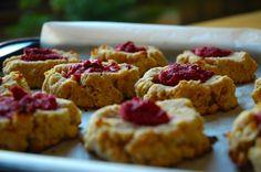 Tender Coconut Raspberry Thumbprint Cookies - Gluten Free!
