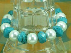 Handmade Bracelet Turquoise Bracelet Green by NaturesJewelsByVina, $30.00