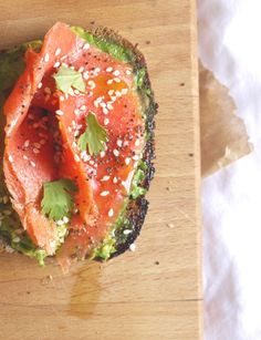 Seeded Rye with Salmon, Sesame & Avocado