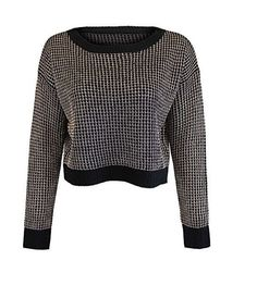 WOMENS CHAINMAIL KNIT BLACK SWEATER TOP!! Pm Us for more info and ORDERS call +44 7530 639069