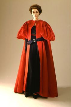 Woman's evening coat, circa 1958 | Don Loper (United States, 1906-1972) | Material: silk faille | Los Angeles County Museum of Art, LACMA