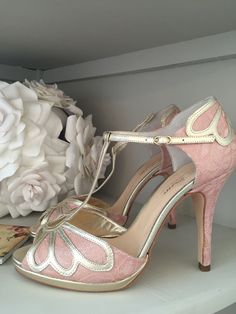 Rachel Simpson Carina Rose Pink Lace High Heel Available In Grey And Silver Wedding Shoes Holmfirth West Yorkshire 01484 766160