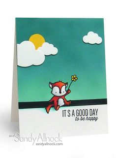 Sandy Allnock - Mama Elephant Good Day Card