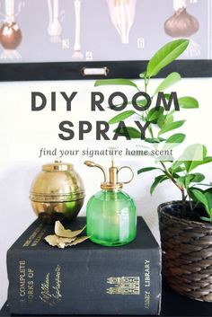 Make a natural room spray for your home with essential oils - DIY, easy, home spray, vintage mister, vintage atomiser Cityscape Bliss // creative home